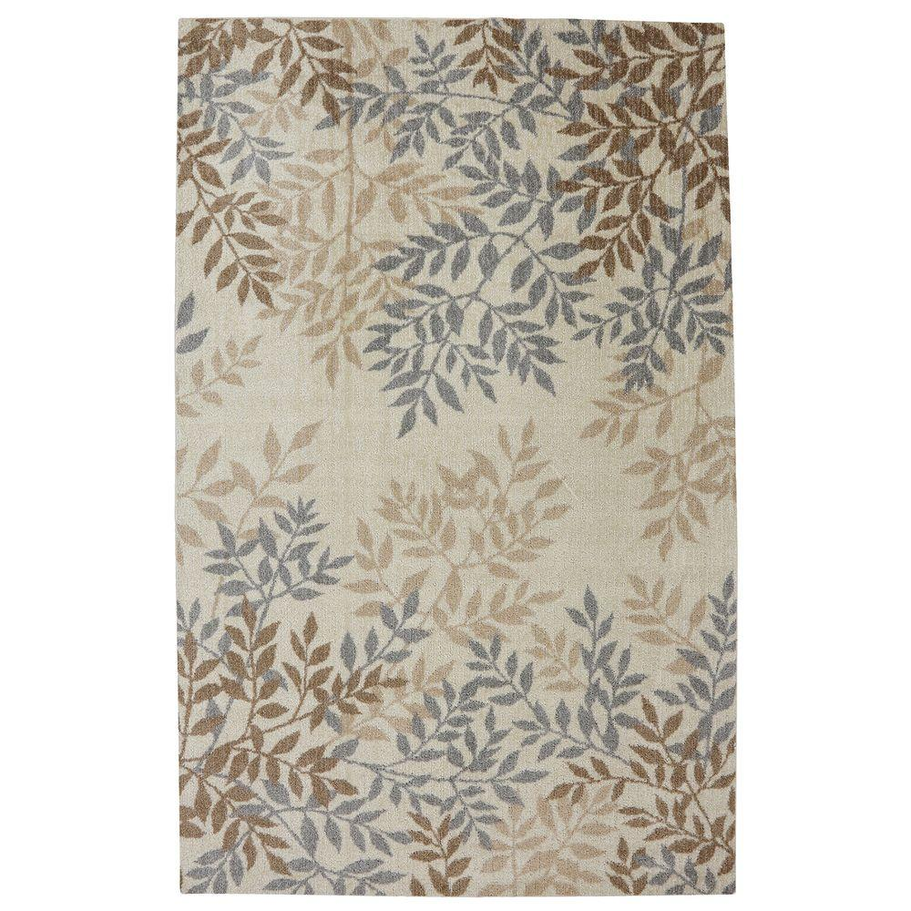 Mohawk Home Waterloo Leaves Beige 5 Ft. X 8 Ft. Area Rug