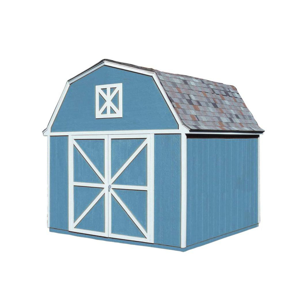 Berkley 10 ft. x 10 ft. Wood Storage Building Kit with