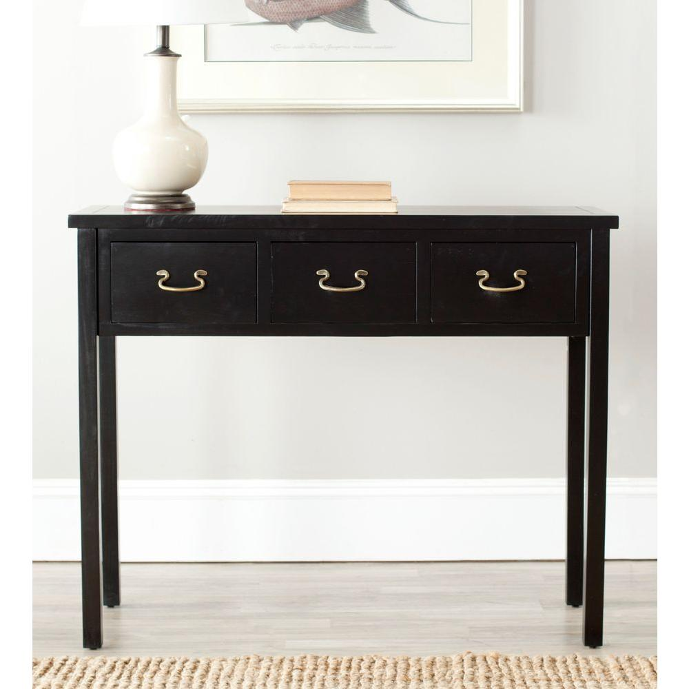 Safavieh Cindy Black Storage Console Table