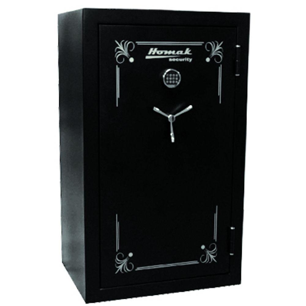 Homak Security 36 Gun Fire Resistant Electronic Black Steel Security Safe