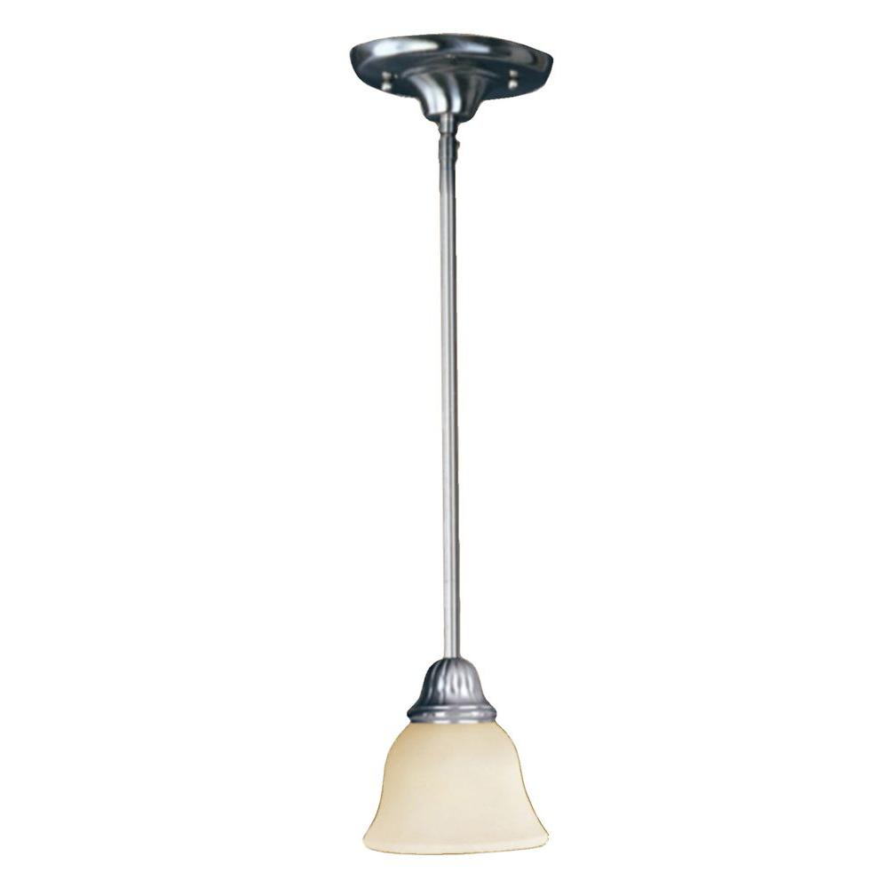 Maxim Lighting Soho 1-Light Mini Pendant-91059SVSN - The Home Depot