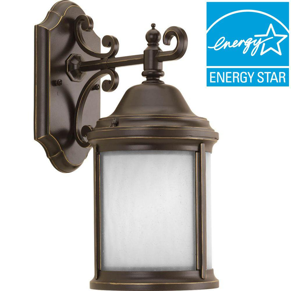 Ashmore Collection 1-Light Antique Bronze Outdoor Wall Lantern