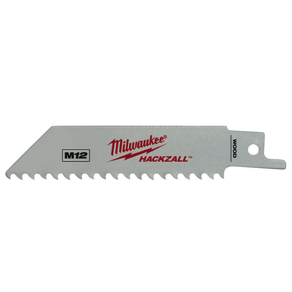 Milwaukee 4 in. 5 TPI Hackzall Reciprocating Saw Blades (5-Pack)-49-00-5460 -