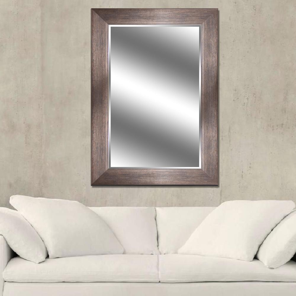 Reflections 31 in. x 43 in. Bevel Style Framed Mirror in