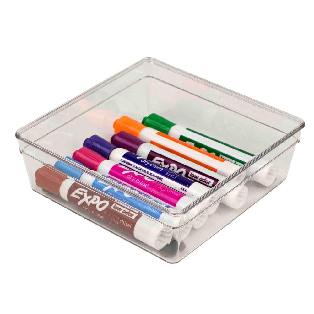 6 in. x 6 in. Plastic Drawer Organizer