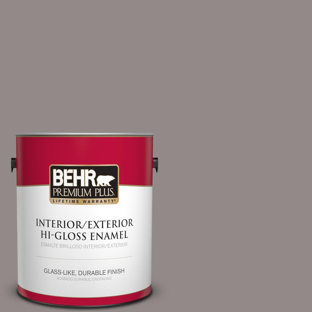 BEHR Premium Plus 1 gal. #PPU17-16 Polished Stone High-Gloss Enamel
