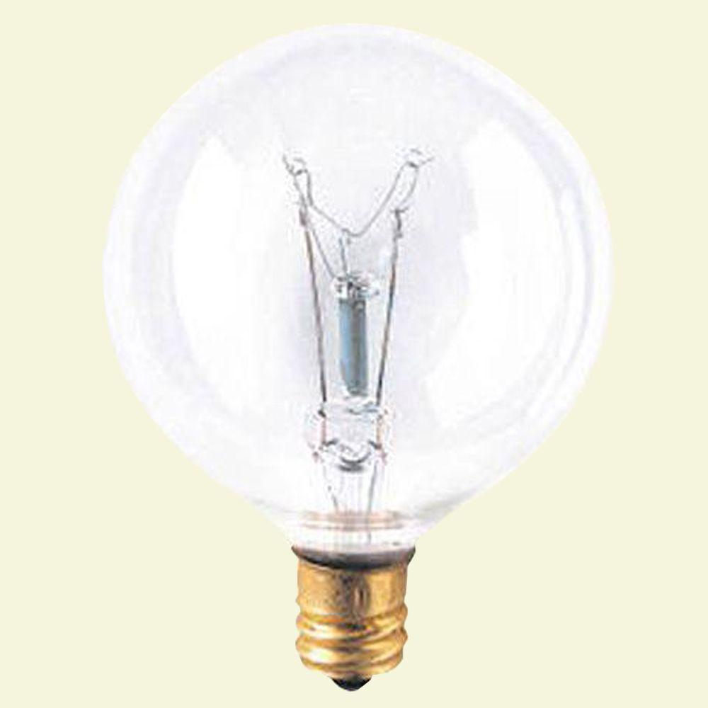 Bulbrite 15-Watt Incandescent G16.5 Light Bulb (25-Pack)