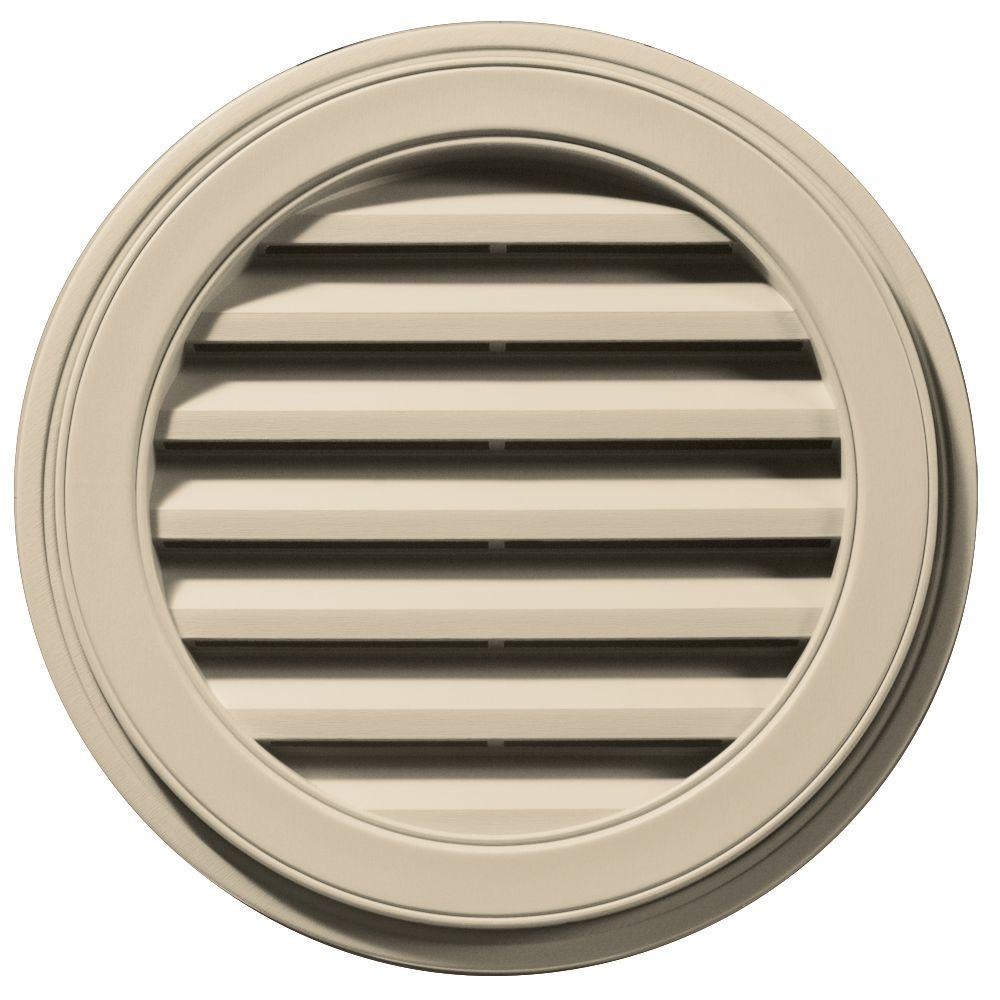 22 in. Round Gable Vent in Sandalwood