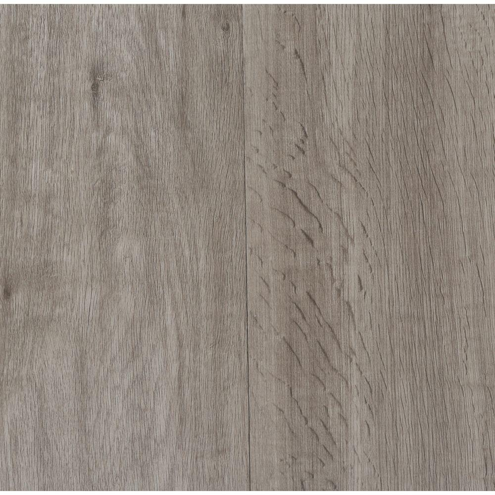 Oak Gray 4 mm Thick x 7 in. Wide x 48 in. Length Click Lock Luxury Vinyl Plank (23.36 sq. ft. / case), Gray/Embossed