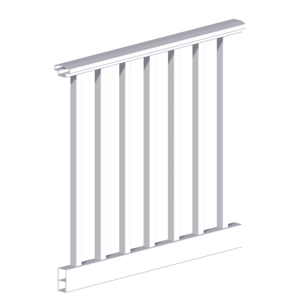 Original Rail 6 ft. x 36 in. White Vinyl Square Baluster