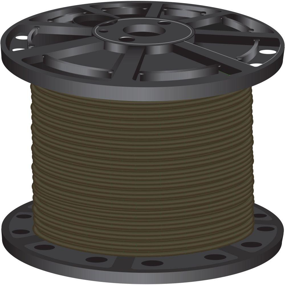 500 ft. 6-Gauge Brown Stranded CU SIMpull THHN Wire