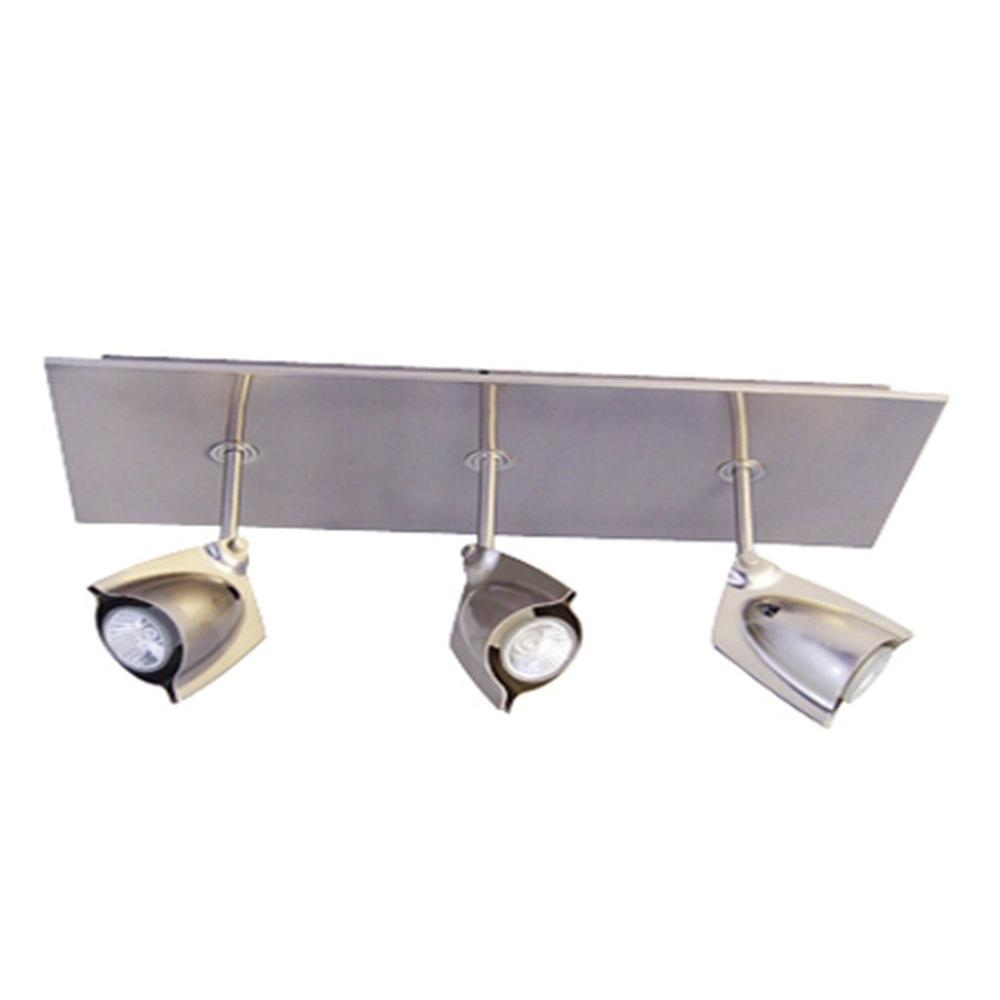 BAZZ Accent 14 3-Light Chrome Rectangular Ceiling Fixture-DISCONTINUED