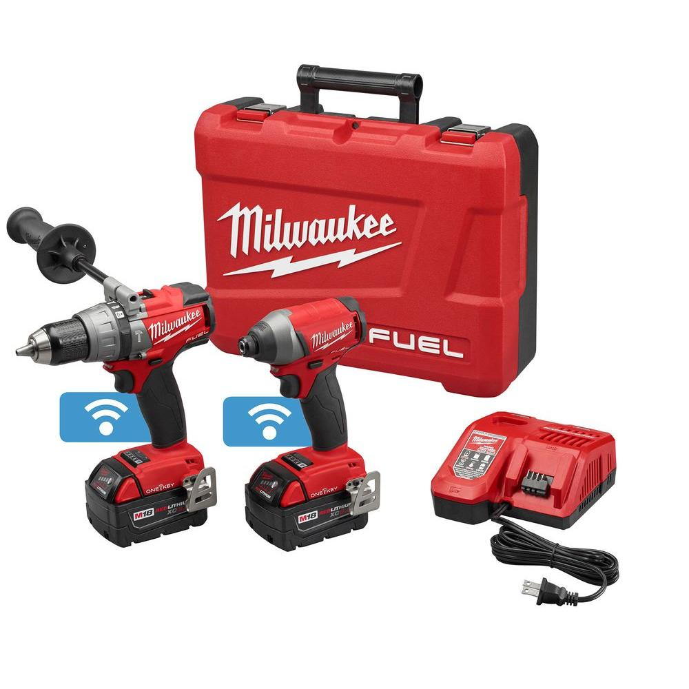 milwaukee m18 fuel with one key 18 volt lithium ion brushless cordless drill impact driver combo. Black Bedroom Furniture Sets. Home Design Ideas