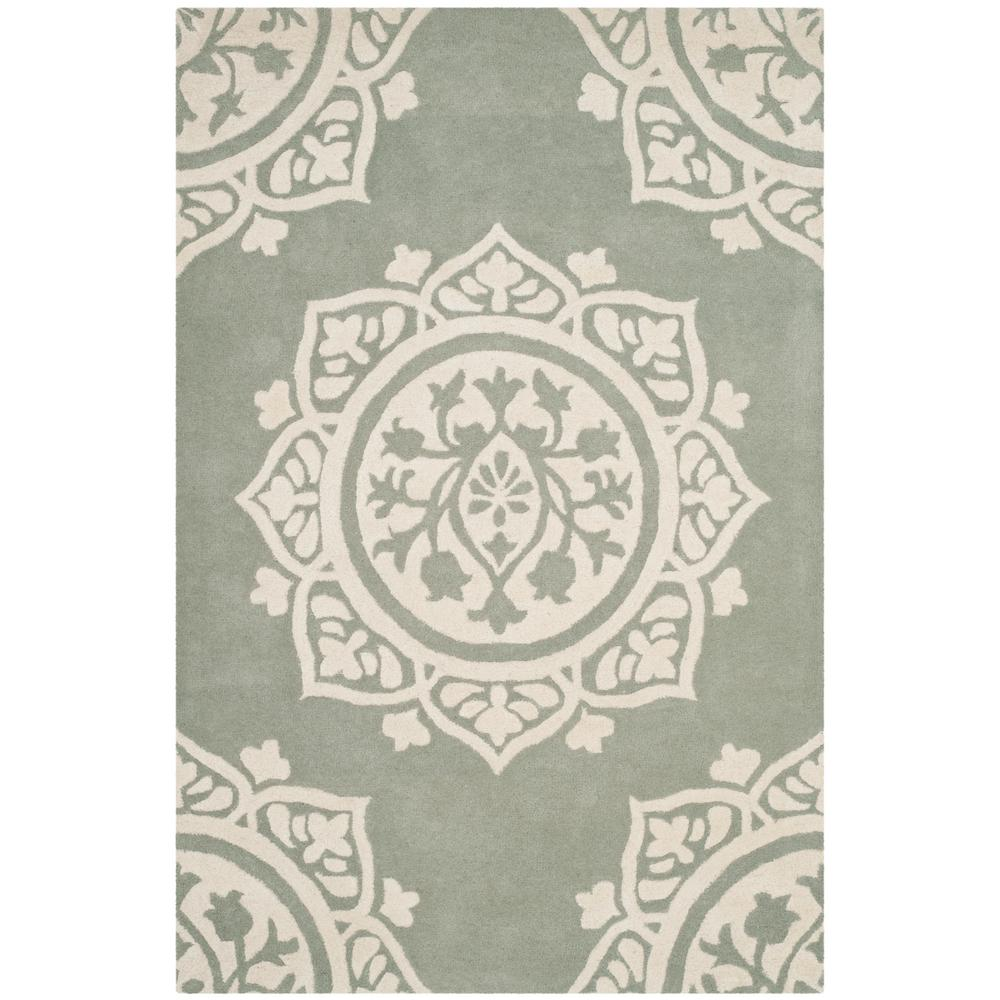 Bella Gray/Ivory 6 ft. x 9 ft. Area Rug