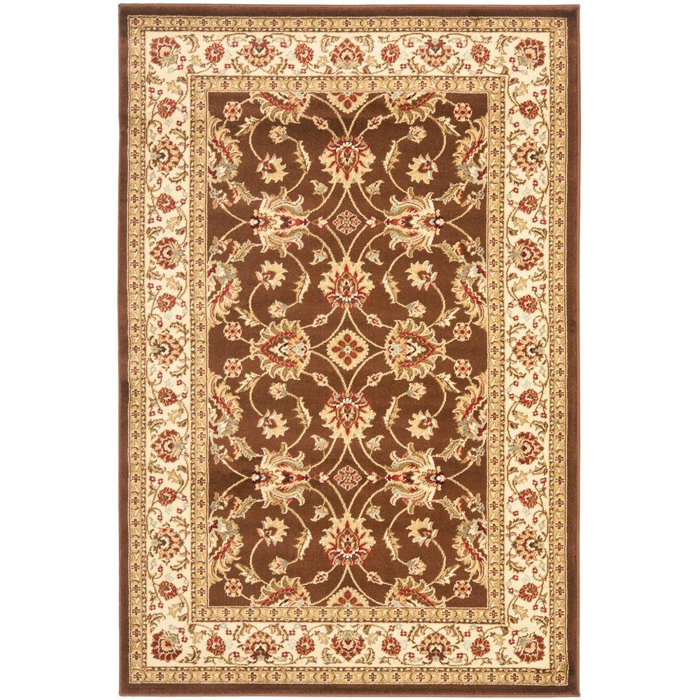 Safavieh Lyndhurst Brown/Ivory 3 ft. 3 in. x 5 ft. 3 in. Area Rug