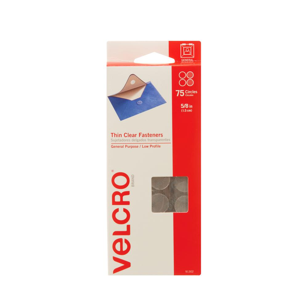 VELCRO Brand 5/8 in. Sticky Back Coin Sets (75-Pack)