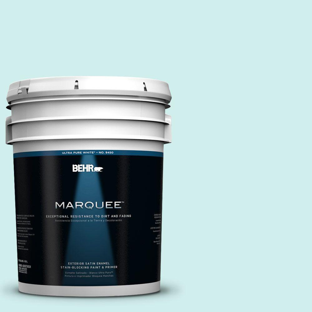BEHR MARQUEE 5-gal. #490A-1 Teal Ice Satin Enamel Exterior Paint