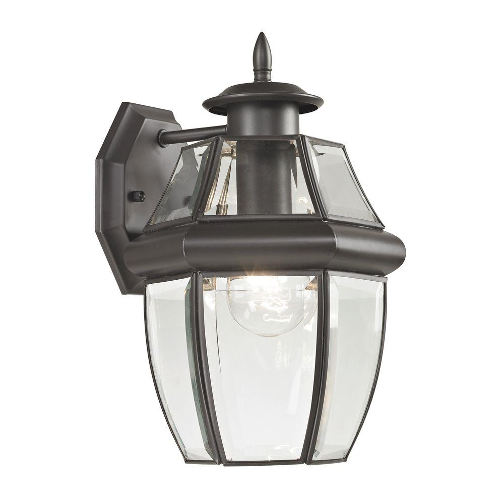 Titan Lighting Ashford 1-Light Outdoor Oil Rubbed Bronze Sconce-TN-50208 - The
