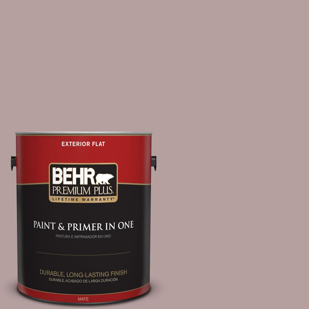 1-gal. #N130-4 Plum Taupe Flat Exterior Paint