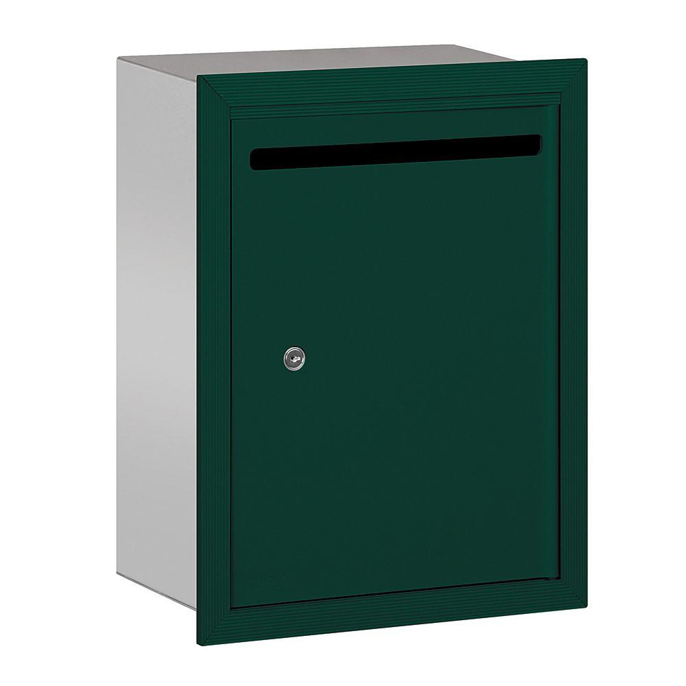 2240 Series Green Standard Recessed-Mounted Private Letter Box with Commercial