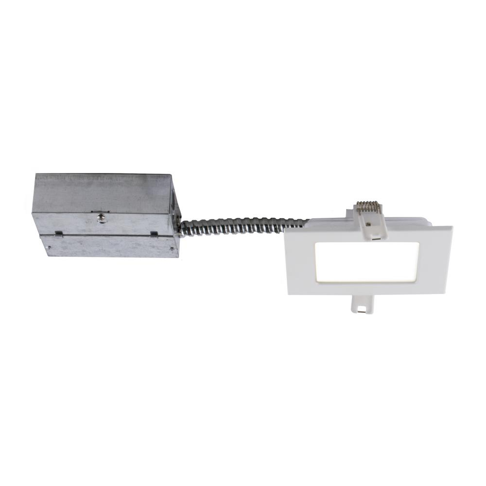 Bazz Slim 4 in. White Integrated LED Recessed Fixture Kit
