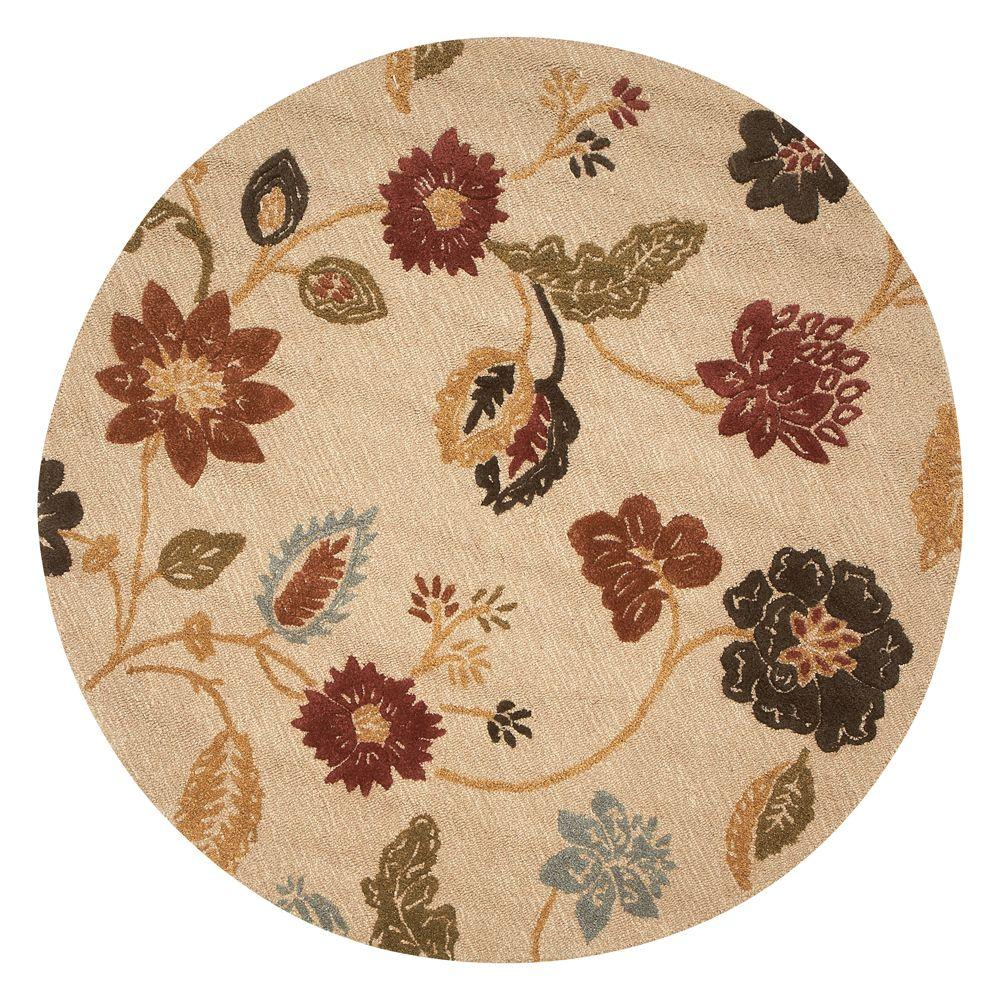 Portico Soft Gold 5 ft. 9 in. Round Area Rug