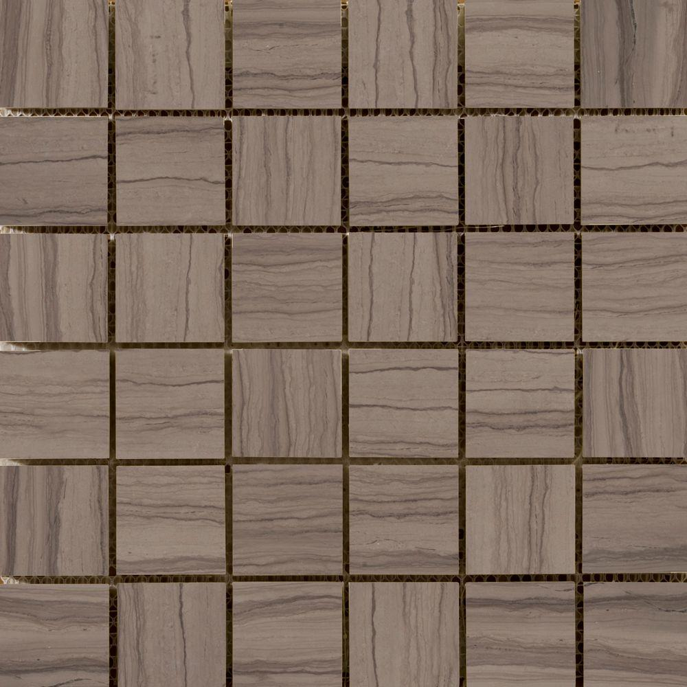Metro Taupe 12 in. x 12 in. x 10.41 mm Marble