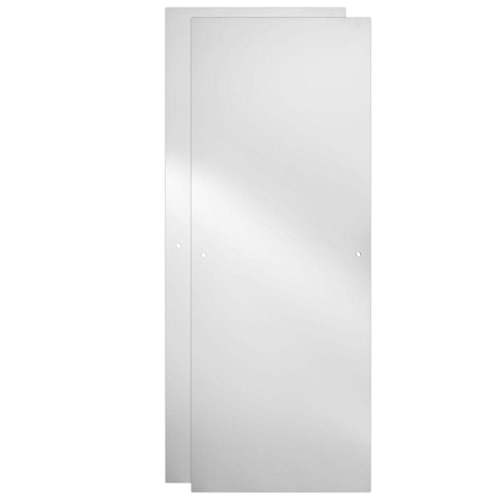 48 in. Sliding Shower Door Glass Panels in Clear (1-Pair)