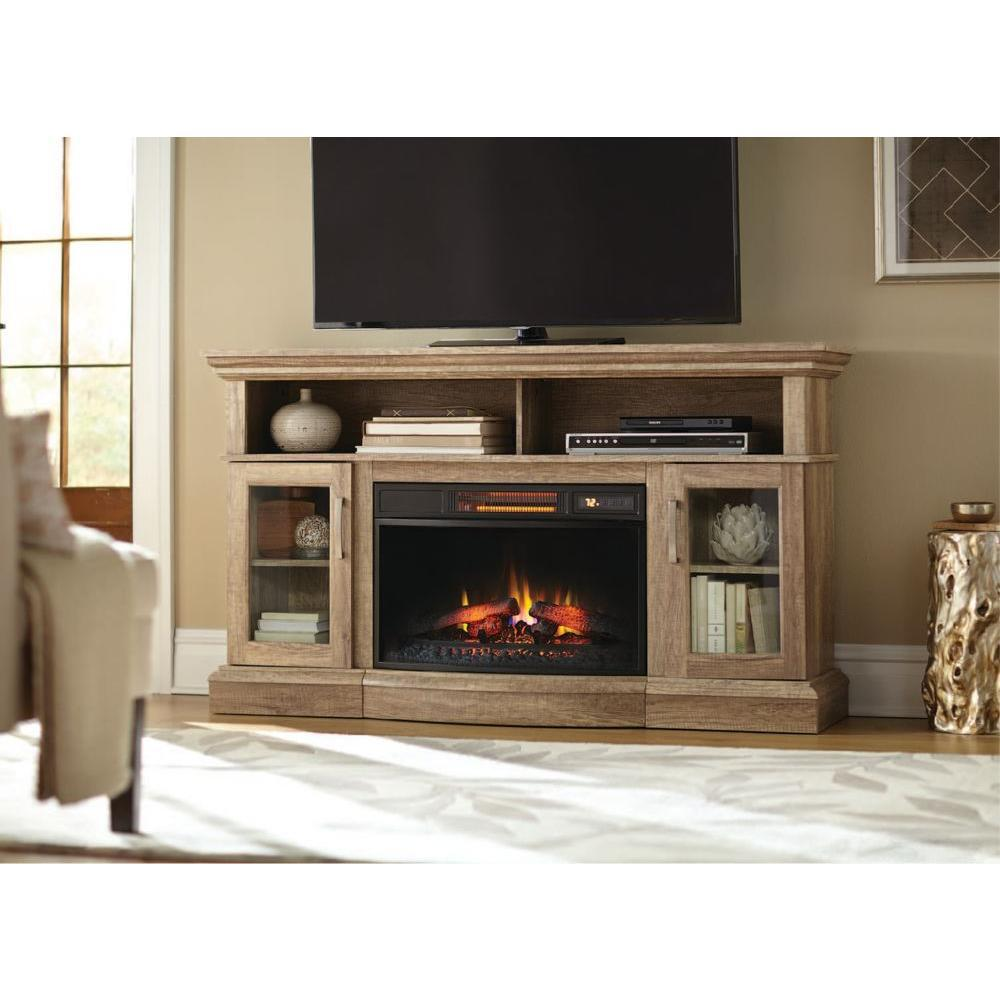 Home Decorators Collection Hawkings Point 59 5 In Rustic Media Console Electric Fireplace In