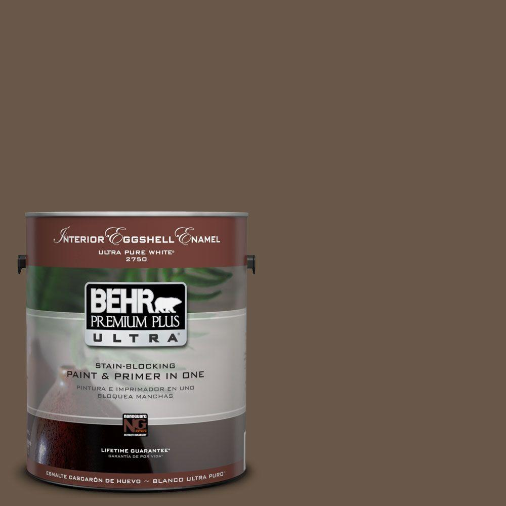 1-Gal. #UL160-22 Cacao Interior Eggshell Enamel Paint