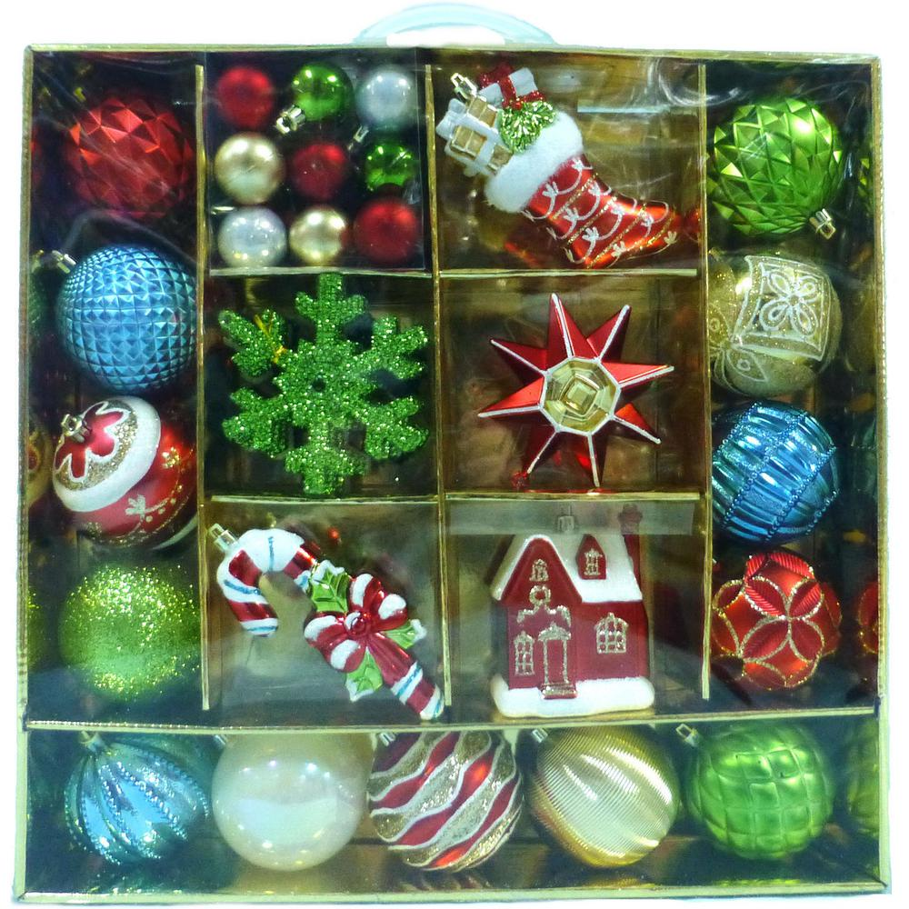 Martha Stewart Living Alpine Holiday Ornament (51-Count)-C-15836 - The Home
