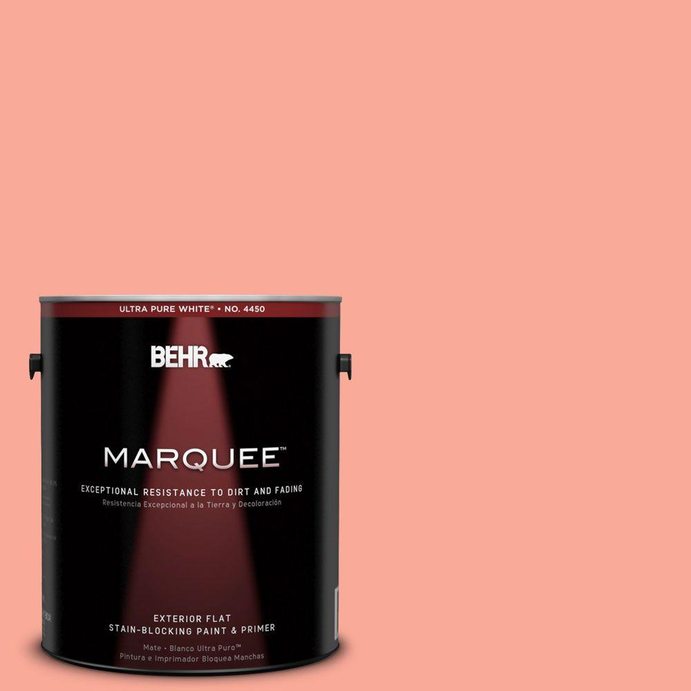 BEHR MARQUEE 1-gal. #190B-4 Duchess Rose Flat Exterior Paint-445401 - The
