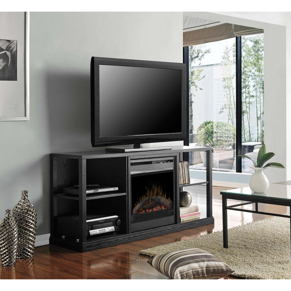 Dimplex Jayden 61 in. Media Console Electric Fireplace in Black-DISCONTINUED