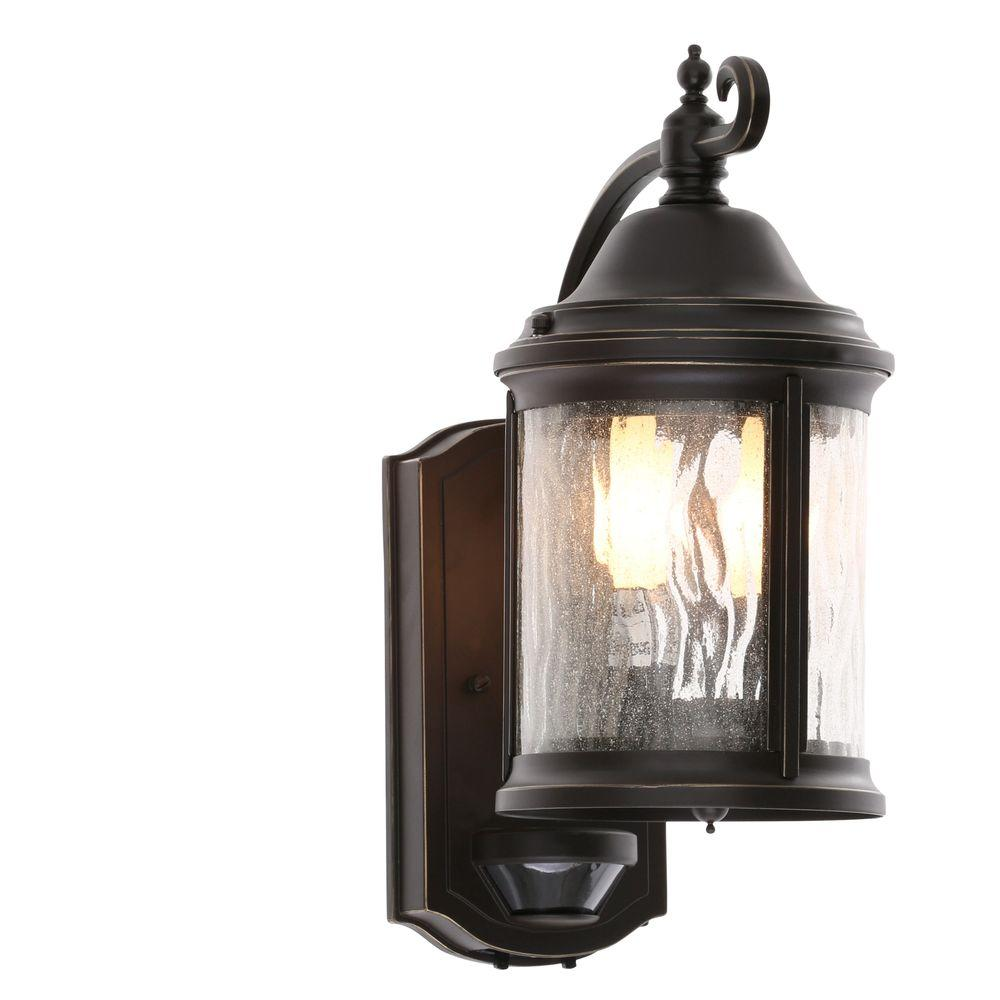Progress Lighting Ashmore Collection Wall Mount 2-Light Outdoor Antique Bronze Lantern