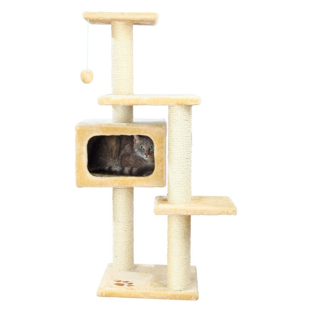 TRIXIE Beige Palamos Cat Tree-43781 - The Home Depot