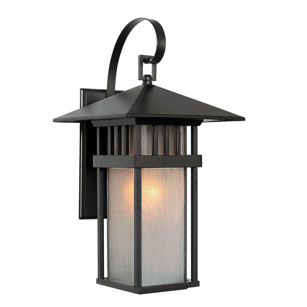 Acclaim Lighting Bali Collection Wall-Mount 1-Light Outdoor Matte Black Light Fixture-DISCONTINUED