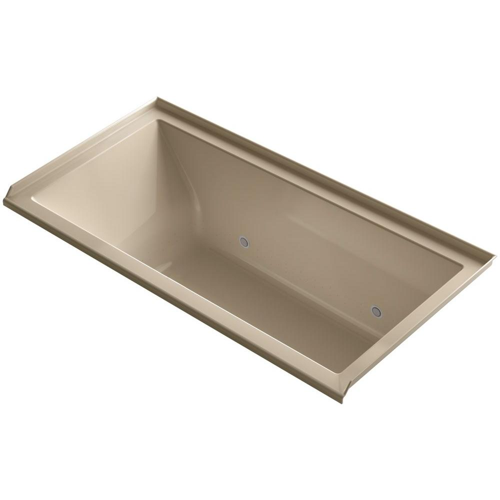 KOHLER Underscore 5 ft. Whirlpool Tub with Right Drain in Mexican Sand
