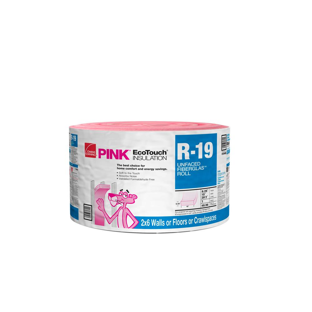 R-19 Unfaced Insulation Continuous Roll 15 in. x 39.2 ft.