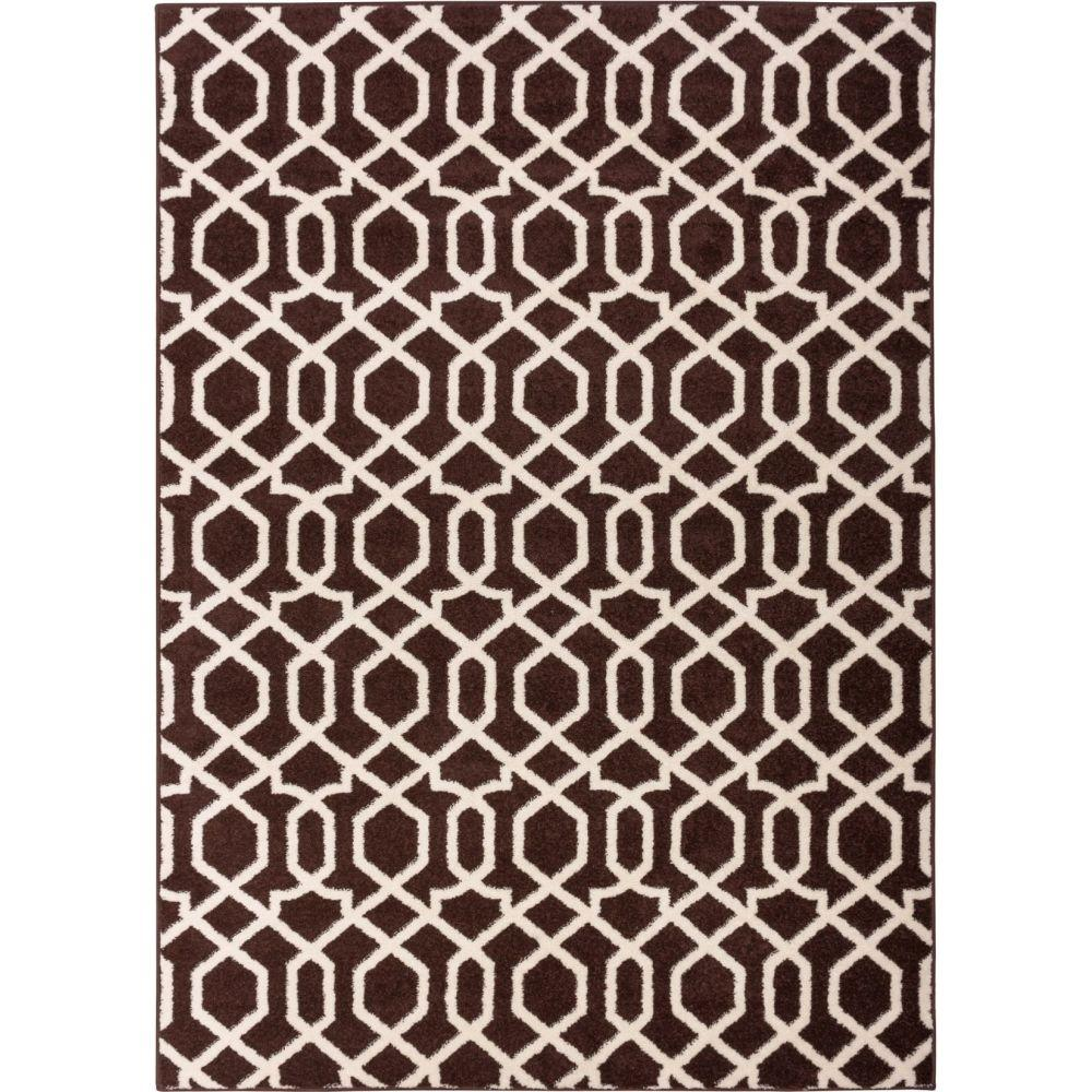 Well Woven Sydney Geo Helix Brown 7 ft. 10 in. x