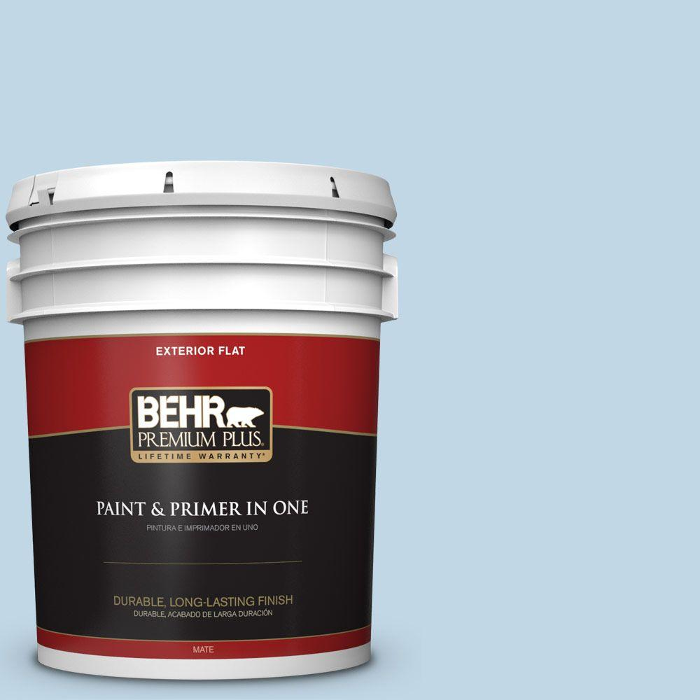 5-gal. #S500-1 Distant Shore Flat Exterior Paint