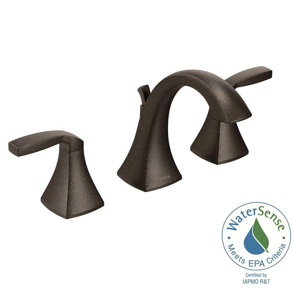 Voss 8 in. Widespread 2-Handle High-Arc Bathroom Faucet Trim Kit in