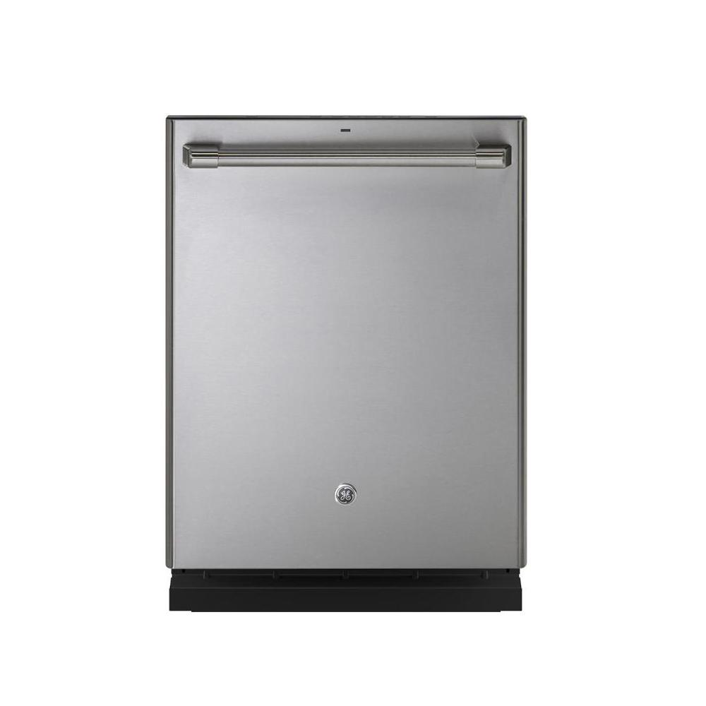 Ge Cafe 24 In Top Control Stainless Interior Built In Dishwasher In Stainless Steel Cdt835ssjss