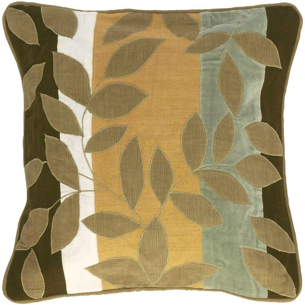 Artistic Weavers LeavesH 18 in. x 18 in. Decorative Pillow-DISCONTINUED