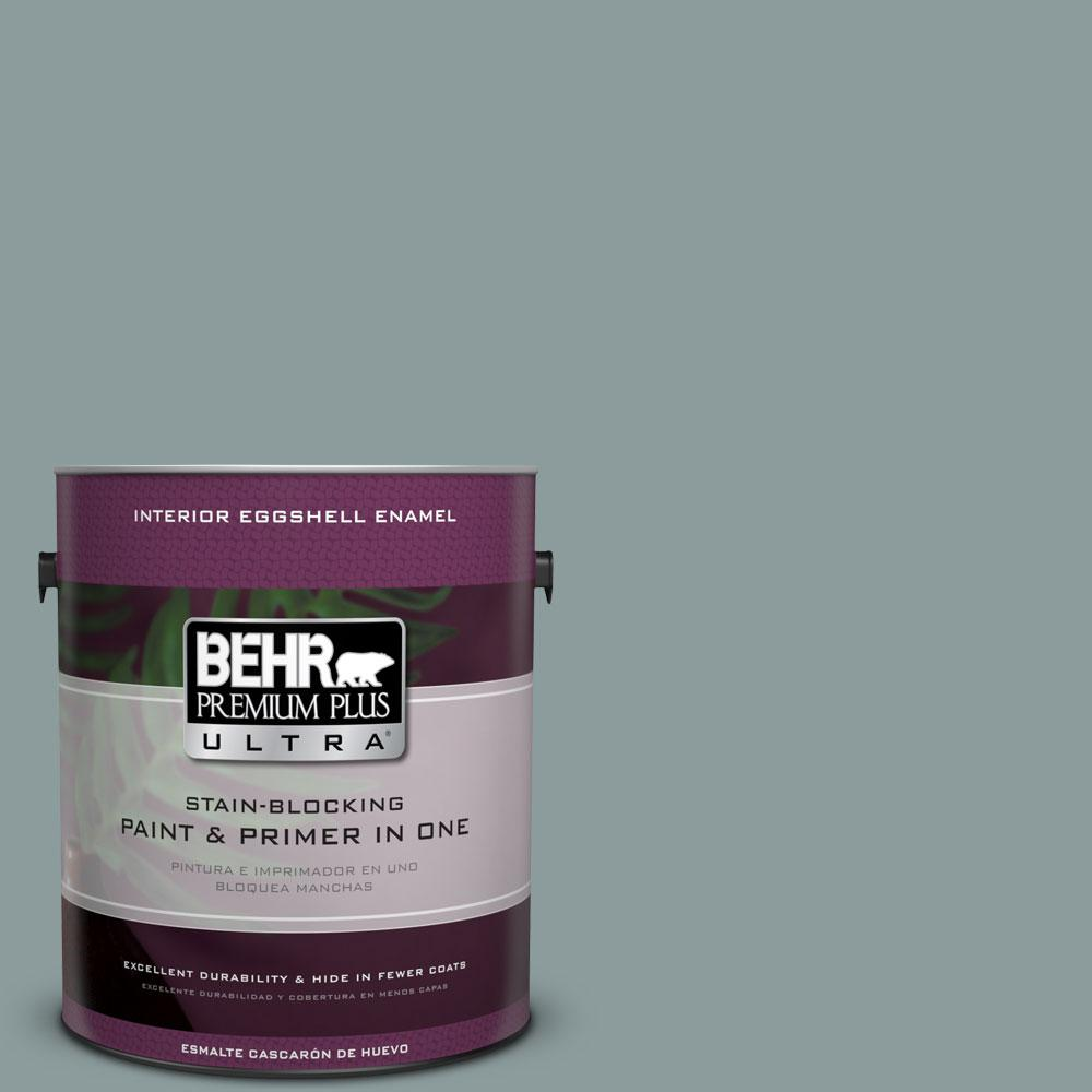 BEHR Premium Plus Ultra Home Decorators Collection 1-gal. #HDC-AC-23 Provence Blue Eggshell Enamel Interior Paint