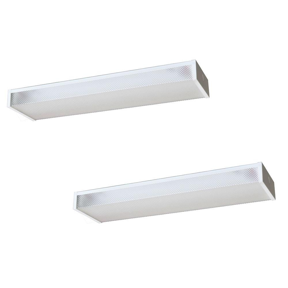 Radionic Hi Tech Wrap 24 in. Low Profile White Fluorescent Fixture (2-Pack)