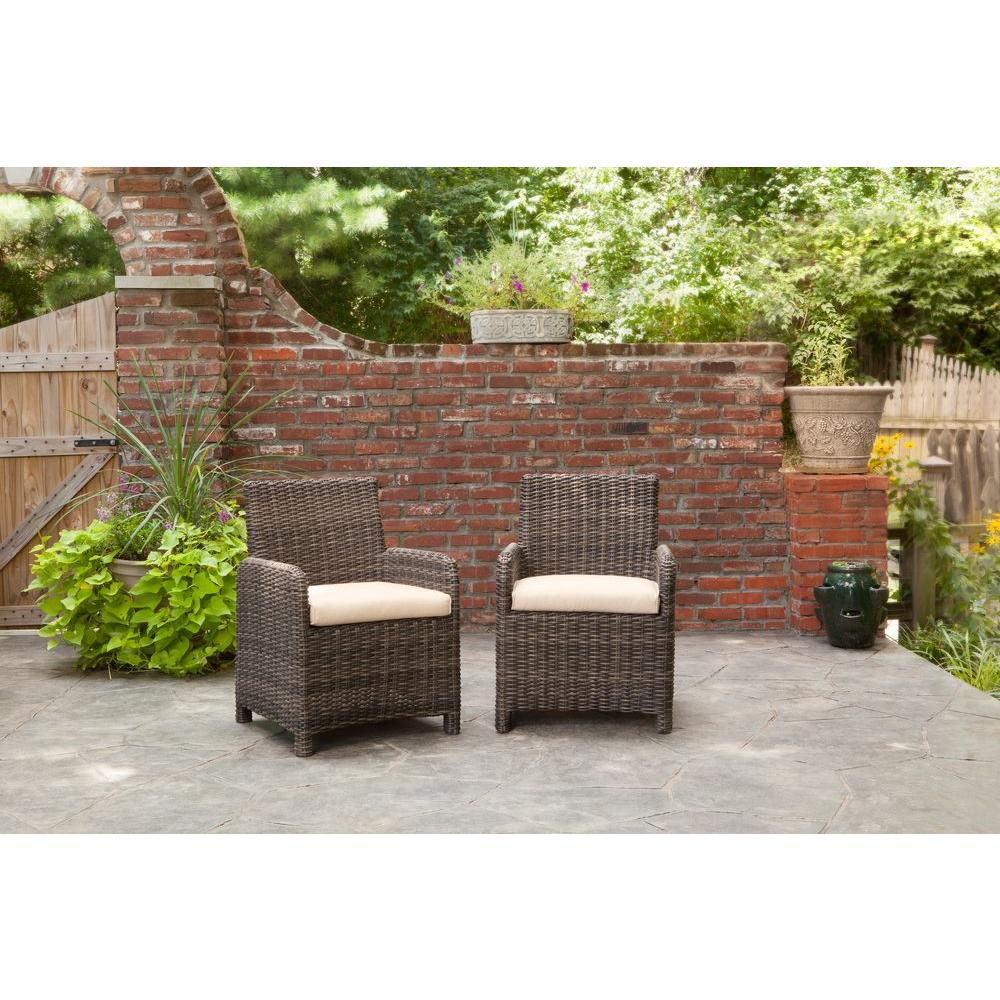 Brown Jordan Northshore Patio Dining Chair with Harvest C...