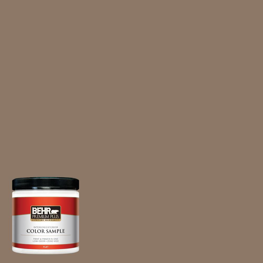 8 oz. #PPU5-05 Coconut Shell Flat Interior/Exterior Paint Sample