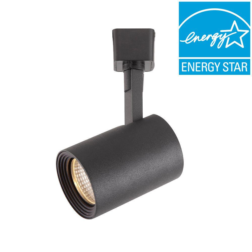 Black LED Dimmable Cylinder Track Lighting Head
