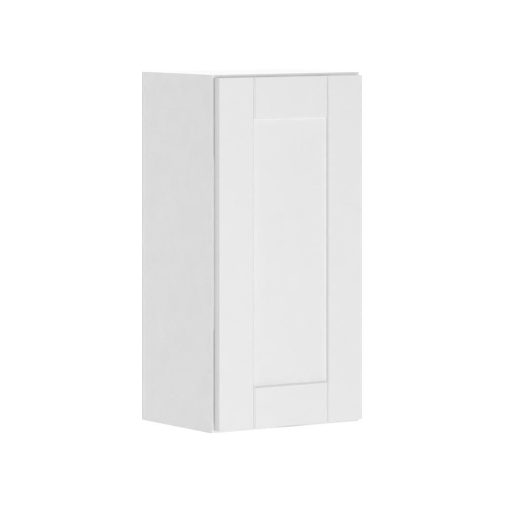 Assembled 15x30x12 in. Princeton Shaker Wall Cabinet in Warm White