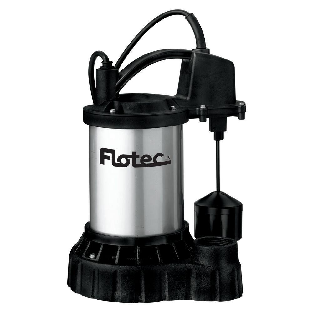 Flotec 1/3 HP Submersible Cast Iron/ Stainless Steel Automatic Sump Pump with Vertical Switch